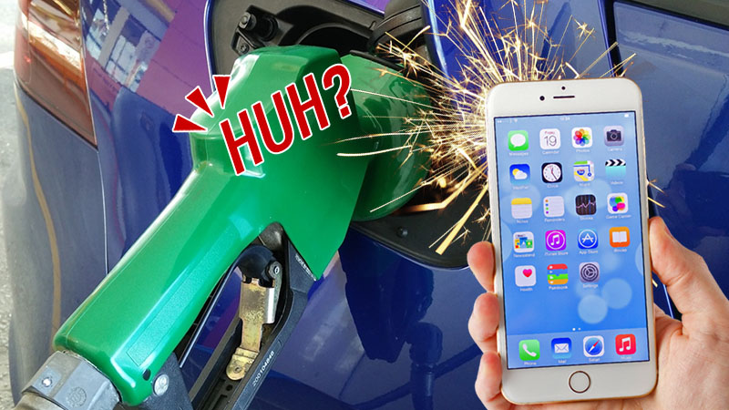 خطرات تلفن همراه در پمپ بنزین واقعی است؟